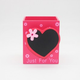 Pen holder (Heart Shape) DARK PINK