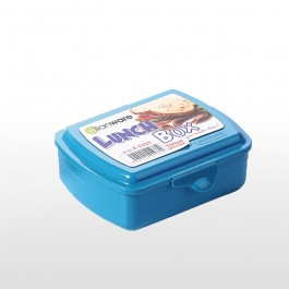 Lunch Box With Fork & Spoon - BLUE