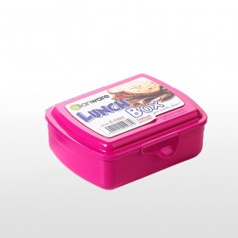 Lunch Box With Fork & Spoon - PINK