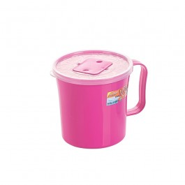 12cm Mug with Cover - PINK