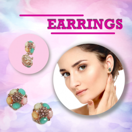 ROUND COLORFUL EARRING FASHION