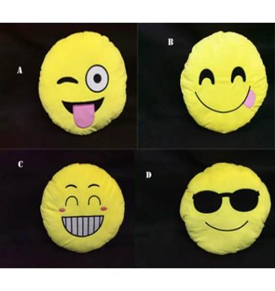Emoji Yellow Round Cushion Pillow 35CM
