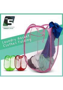 Laundry Basket Clothes Folding Colourful