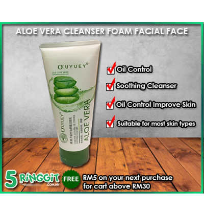 Aloe Vera Cleanser Foam Facial Face 150ml