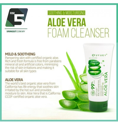 99% Aloe Vera Cleanser Foam Facial Face 150ml