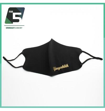 FACE MASK Washable + Custom Name + Free 1 Mask Extender