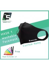 FACE MASKWashable Facemask + Custom Name + Free 1 Mask Extender
