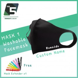 FACE MASK Washable Facemask + Custom Name + Free 1 Mask Extender