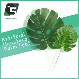 Daun Artificial Monstera Palm Leaf