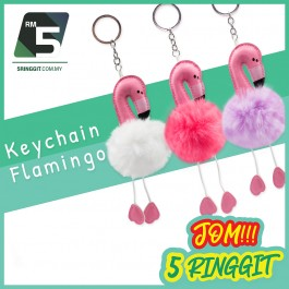 Cute Flamingo Keychain For Girls