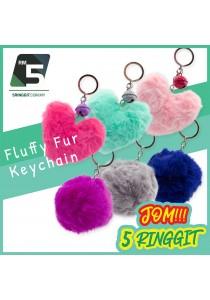Fluffy Cute Keychain For Girls