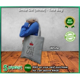 Smile Girl Tote bag - 5Ringgit.com.my