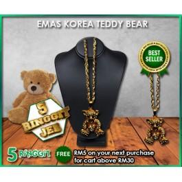 Emas Korea Teddy Bear ❤Korea Gold Necklace❤
