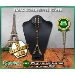 Emas Korea Eiffel Tower ❤Korea Gold Necklace❤