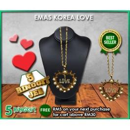 Emas Korea Love ❤Korea Gold Necklace❤