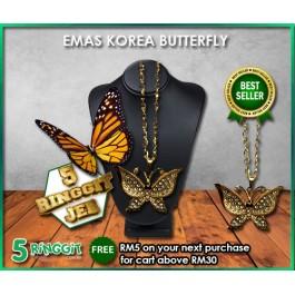 Emas Korea Butterfly ❤Korea Gold Necklace❤