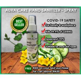 Aura Care Hand Sanitizer - Spray