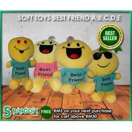 SOFT TOYS BEST FRIEND (A,B,C,D,E)