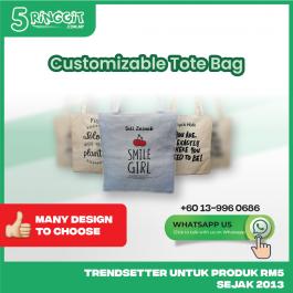 [Whatsapp Before Order] Tote bag custom name totebag women gift 【Customizable 】